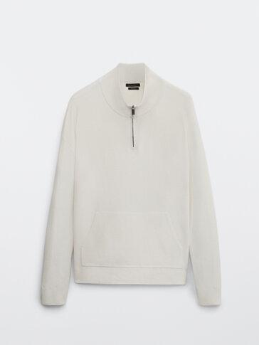 Mock neck sweater with zip
