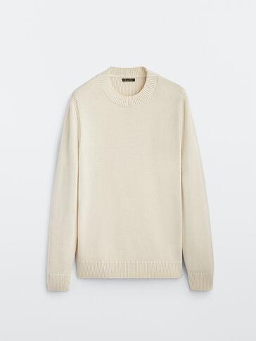 Merino wool cotton sweater