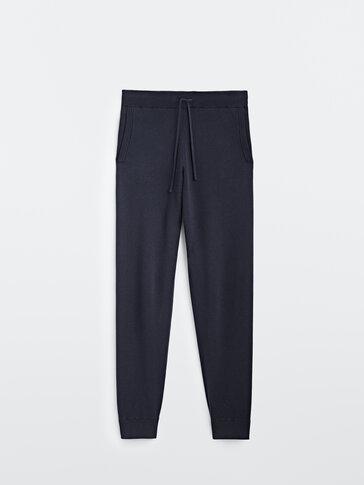 Úpletové kalhoty jogger