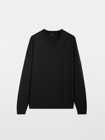 Crew neck cotton sweater