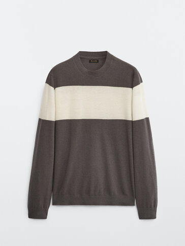 Silk and cashmere wool sweater