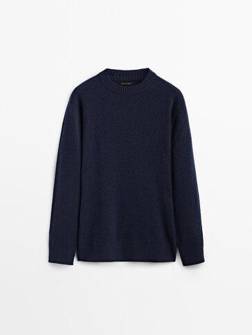 Pullover aus Wolle und Kaschmir mit Rundausschnitt