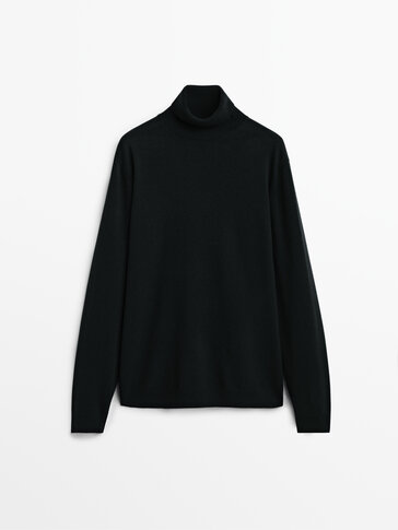 Džemper od mešavine vune i kašmira s visokom kragnom