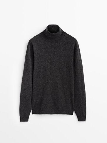 סוודר High neck צמר וקשמיר