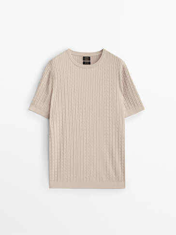 100% cotton cable-knit sweater