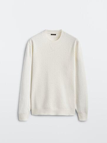 精縮羊毛圓領針織衫