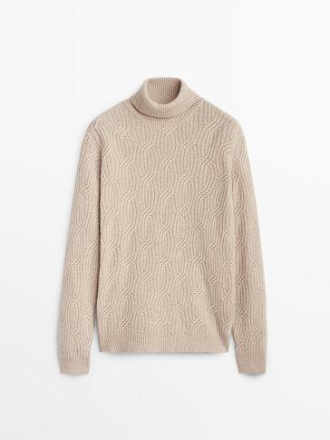 羊毛高領針織衫