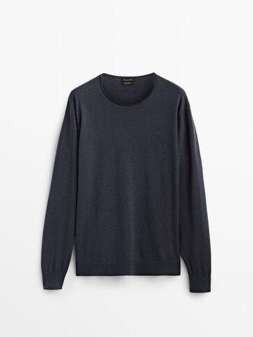 Pleten pulover iz kašmirja in volne