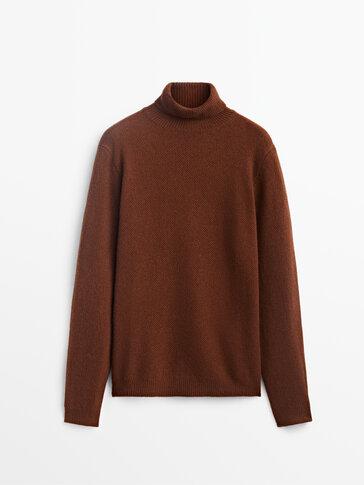Pull à col roulé en laine et en cachemire Limited Edition