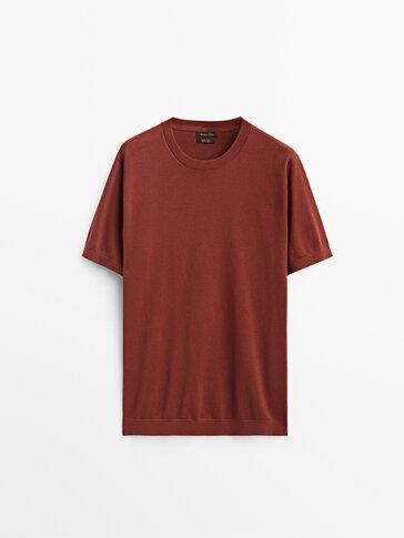 T-shirt en maille de pur coton