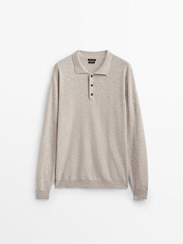 Πόλο πουλόβερ από μαλλί και κασμίρι