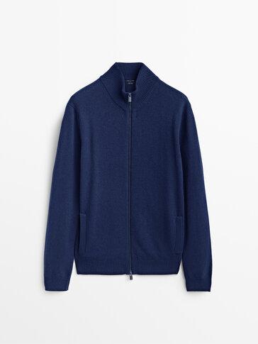 Cashmere wool knit cardigan