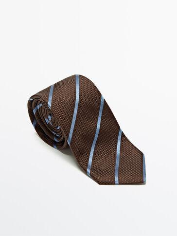 Striped 100% silk tie