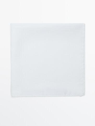 Plain 100% silk pocket square
