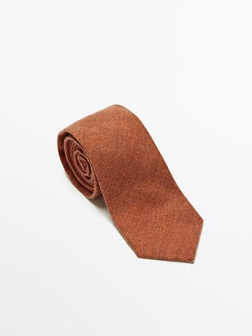 Εμπριμέ γραβάτα από 100% μαλλί