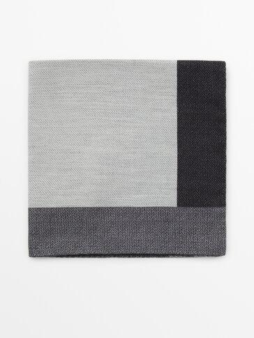 Foulard imprimé soie coton