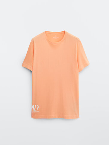 Short sleeve T-shirt with side logo