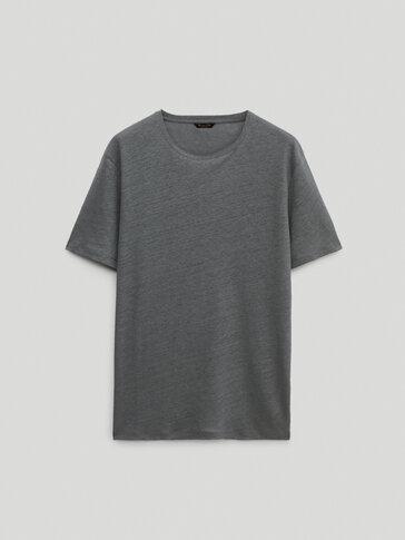 100% linen short sleeve T-shirt