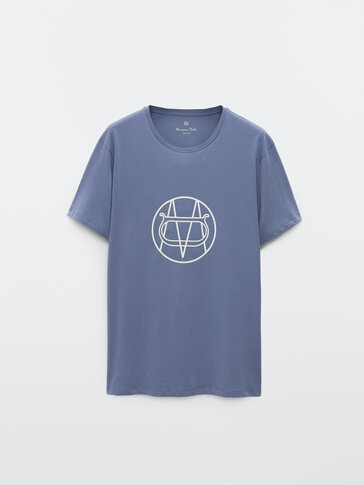 Cotton short sleeve T-shirt with logo