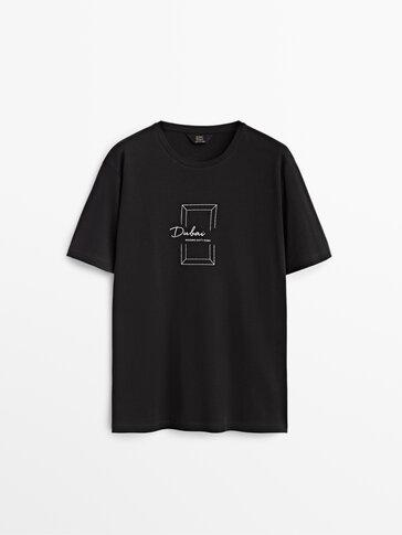 100% cotton Dubai graphic T-shirt