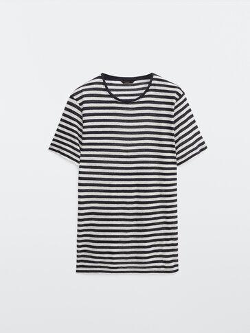 Gestreiftes Shirt aus reinem Leinen
