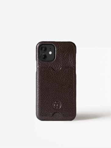 Leather iPhone 11 Pro case with card slot
