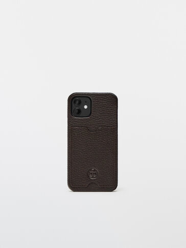 Leather iPhone 12 Pro case with card slot