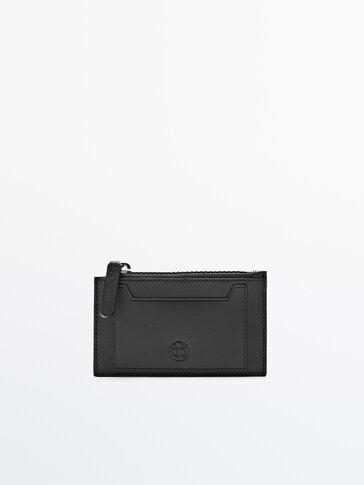 Plain leather clutch