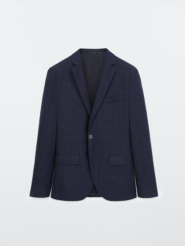 Americana cuadros 100% lana slim fit