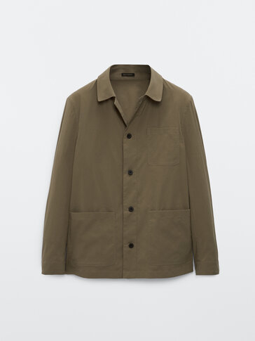 Technical overshirt with pockets
