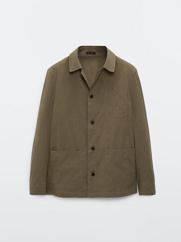 Връхна риза от технически текстил с джобове