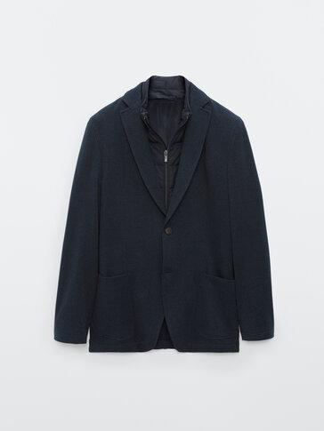 Slim fit, removable, houndstooth blazer