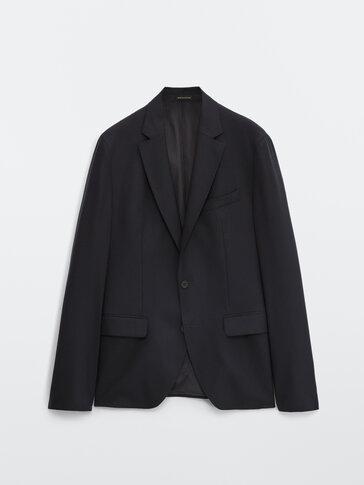 Slim-Fit-Blazer aus reiner Wolle