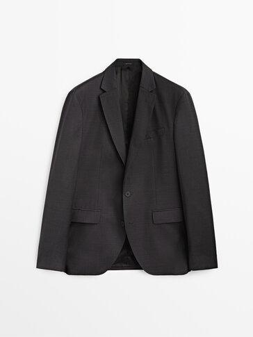 Grey fil à fil wool blazer