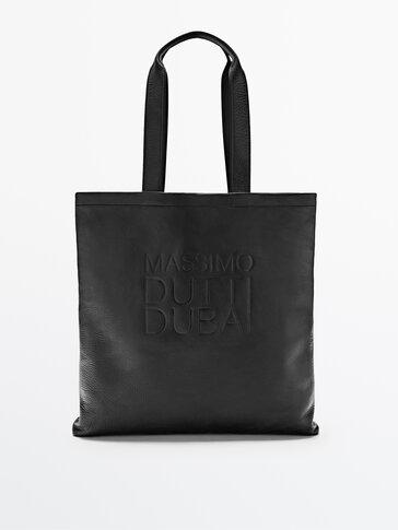 Dubai leather tote bag
