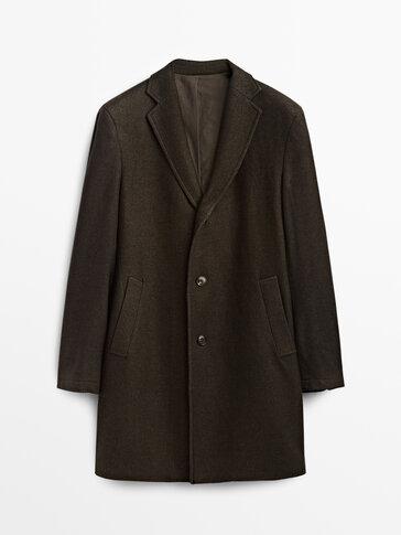 Dyed wool coat