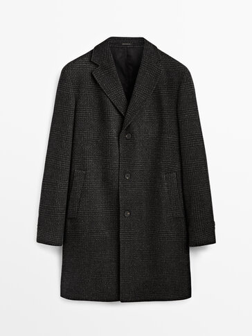 Checked wool coat Limited Edition