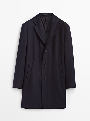Navy blue formal twill coat