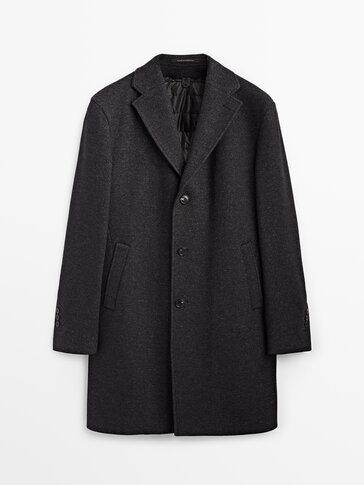 Wollen jas met uitneembare voering