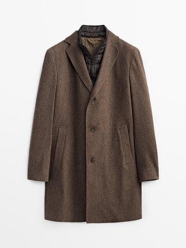 Μάλλινο παλτό με αποσπώμενο εσωτερικό