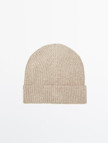 100% wool knit beanie