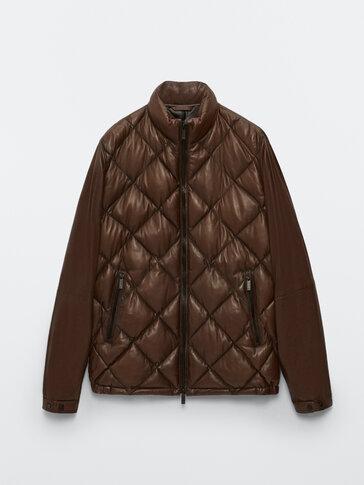 Podložena jakna iz napa usnja