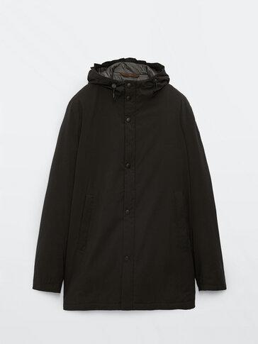 Hooded lightweight parka