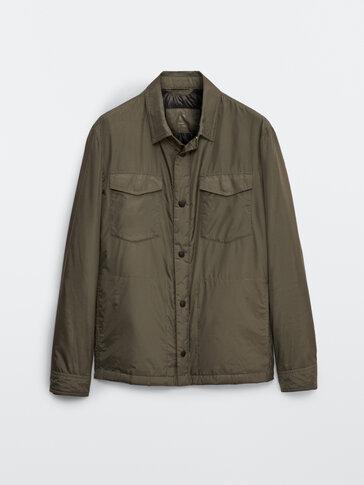 Леко яке тип риза с пухена подплата