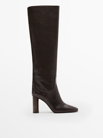 BROWN LEATHER BOOTS LIMITED EDITION