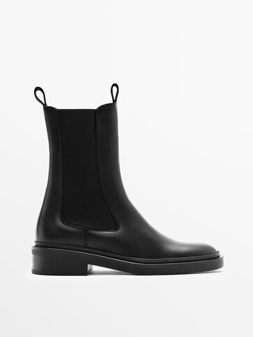 HIGH LEG LEATHER CHELSEA BOOTS