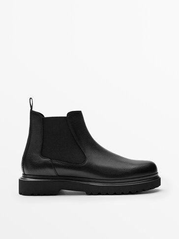 Черные ботинки-челси из мягкой кожи наппа