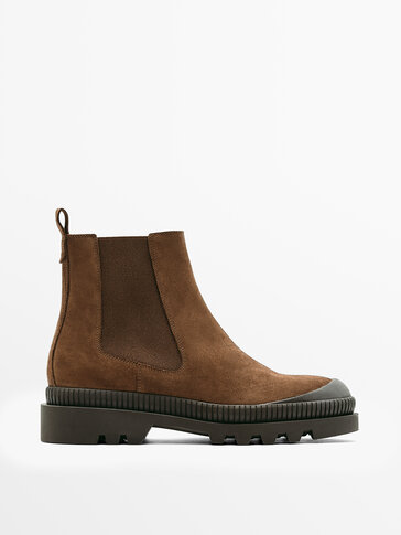 SPLIT SUEDE LEATHER CHELSEA BOOTS