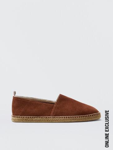 נעלי אספדריל מעור זמש בצבע נחושת