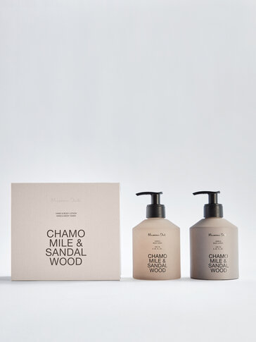 (250ml) Chamomile & Sandalwood gel eta esku- eta gorputz-krema paketea